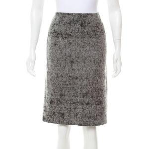Prada Black and Grey Pencil Skirt